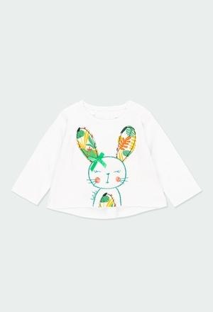 """Camiseta punto """"conejita"""" de bebé niña_1"""