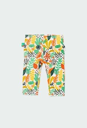 "Leggings jersey elastico ""foglie"" per bimba_1"
