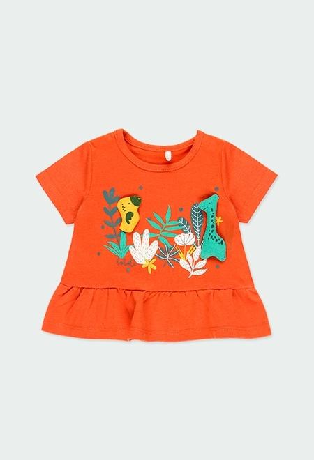"""Camiseta punto """"animales"""" de bebé niña_1"""