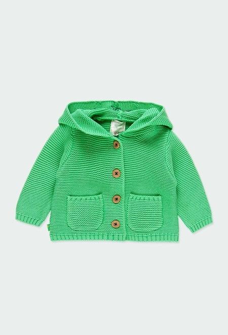 Casaco tricot com capuz do b?b?_1