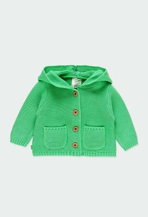 Giacchetta tricot con cappuccio per neonati_1