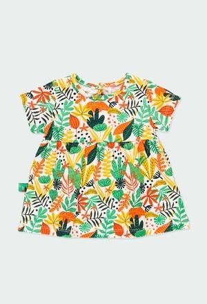 "Knit dress ""leaves"" for baby girl_1"