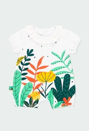 """Grenouillère en tricot """"feuilles"""" pour bébé fille_1"""