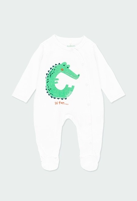 """Knit play suit """"animals"""" for baby_1"""