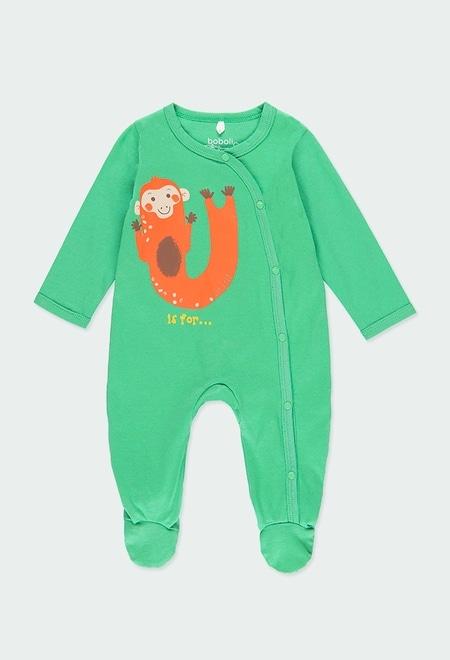 """Grenouillère en tricot """"animaux"""" pour bébé_1"""