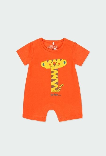 "Pelele punto corto ""animales"" de bebé_1"