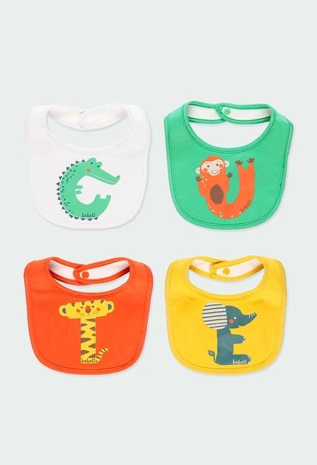 Pack de 4 bavoirs pour bébé_1