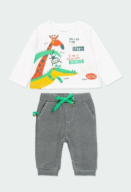 Pack en tricot imprimé pour bébé_1