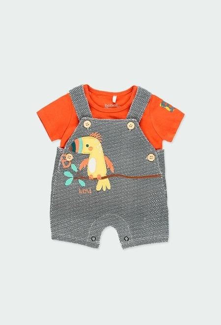 """Pack en tricot """"oiseau"""" pour bébé garçon_1"""