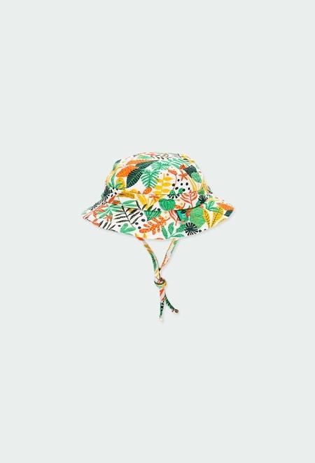 """Bonnet tricot """"feuilles"""" pour bébé_1"""
