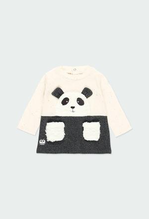 """Vestido punto """"oso"""" de bebé niña_1"""