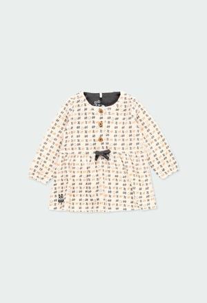 """Velour dress """"stars"""" for baby_1"""