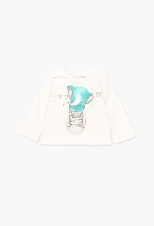 Knit t-Shirt flame for baby_1