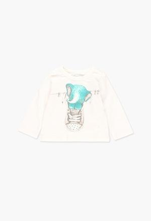 T-Shirt tricot flame pour bébé_1