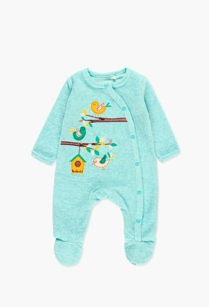 Velour play suit for baby_1