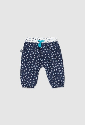 Poplin trousers for baby girl_1