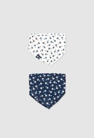 Pack de 2 foulards côtelés pour bébé fille_1