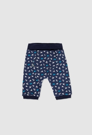 Knit trousers reversible for baby boy_1