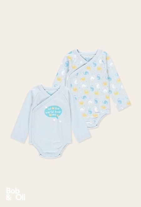 Pack de 2 bodys maille pour bébé - organique_1