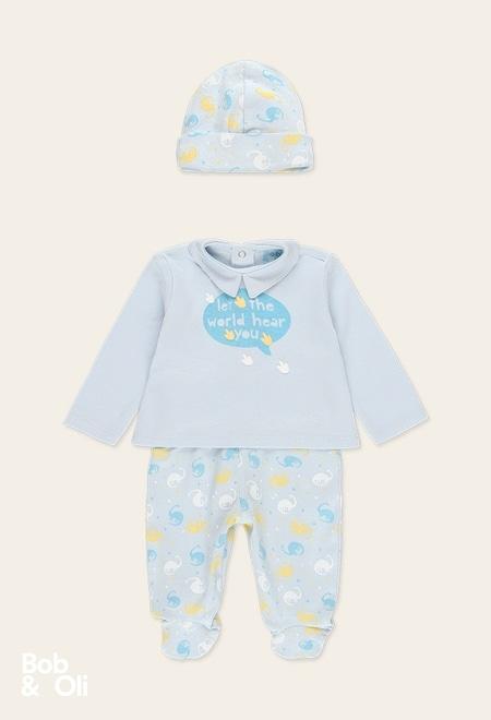 Pack en tricot pour bébé garçon - organique_1