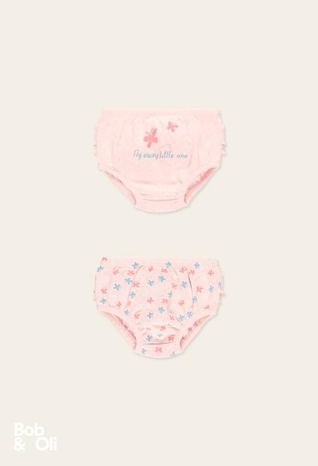 Pack 2 braguitas de bebé niña - orgánico_1