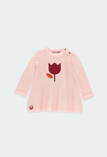 Vestido tricotosa tulipán de bebé niña_1