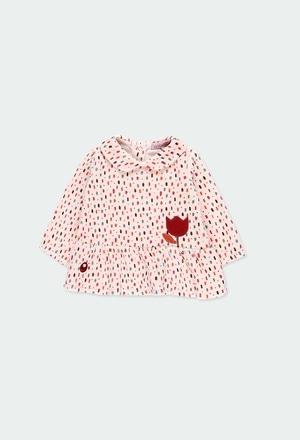 Velour dress polka dot for baby girl_1