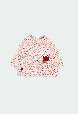 Kleid velour polkatüpfel für baby mädchen_1