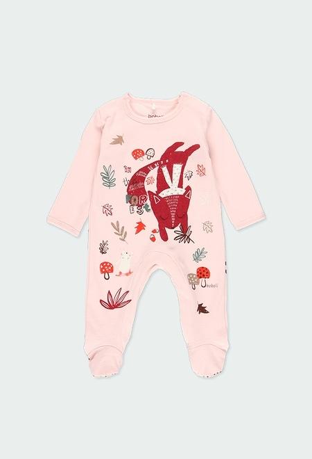 """Babygrow veludo """"animais"""" do bébé_1"""