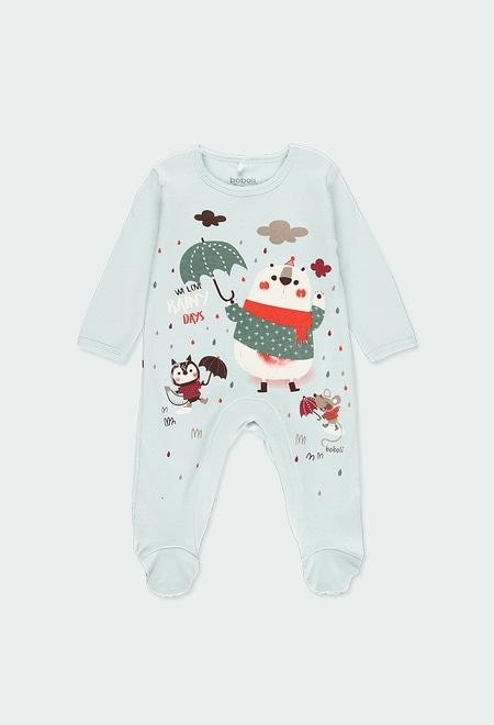 """Pelele terciopelo """"animales"""" de bebé_1"""