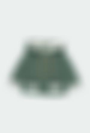 Chaqueta tricotosa forrado pelo de bebé