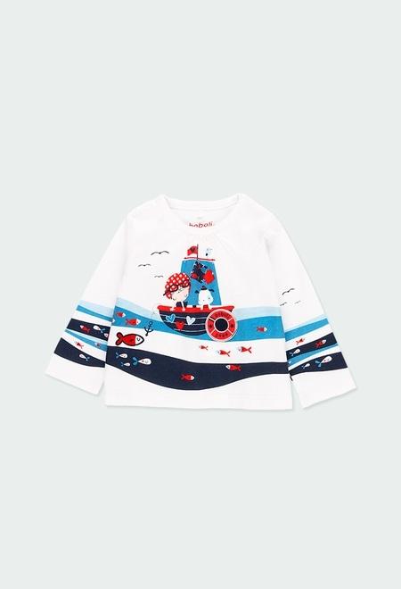 """Camiseta punto """"peces"""" de bebé niña_1"""