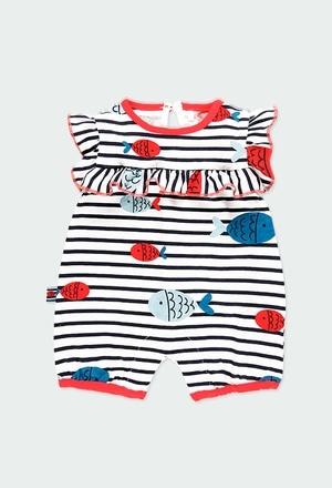 """Grenouillère en tricot """"poissons"""" pour bébé fille_1"""