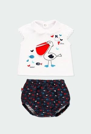 """Pack en tricot """"poissons"""" pour bébé fille_1"""