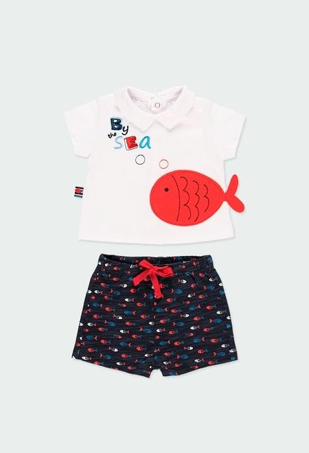 """Pack en tricot """"poisson"""" pour bébé garçon_1"""