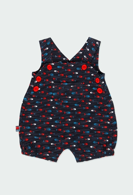 """Short dungarees knit """"fishes"""" for baby_1"""