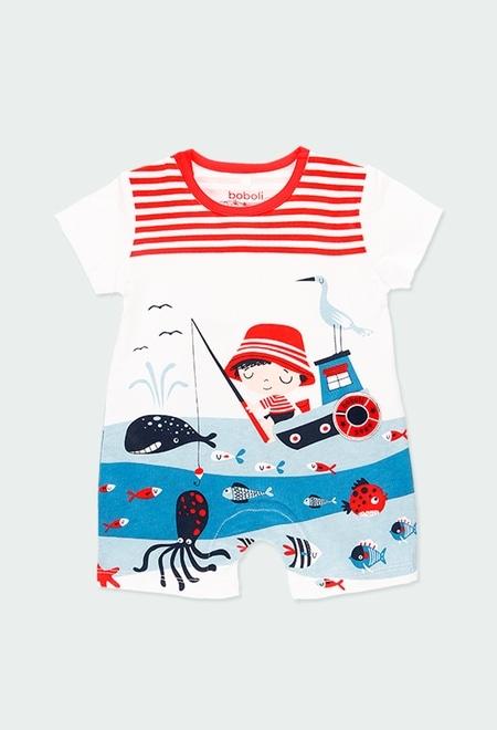 """Grenouillère en tricot """"sea world"""" pour bébé_1"""