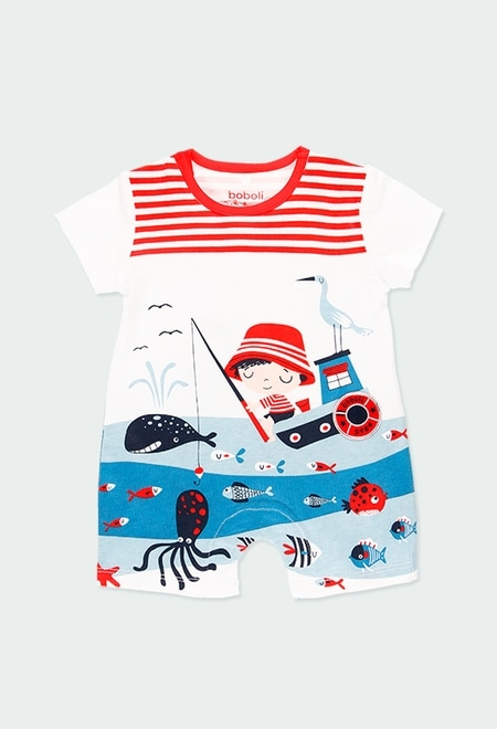"""Knit play suit """"sea world"""" for baby_1"""