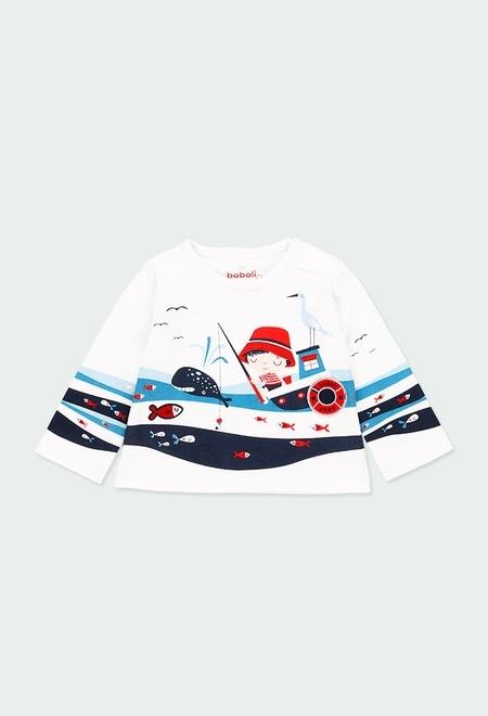 """T-Shirt tricot """"sea world"""" pour bébé_1"""