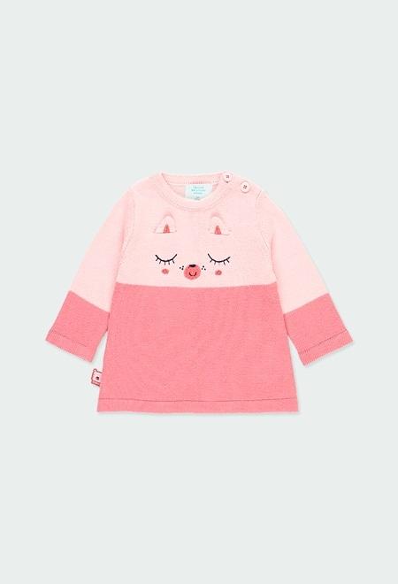 Robe bicolour pour bébé fille_1