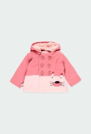 Casaco tricot bicolor para o bebé menina_1