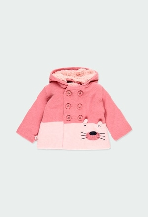 Knitwear jacket bicolour for baby girl_1