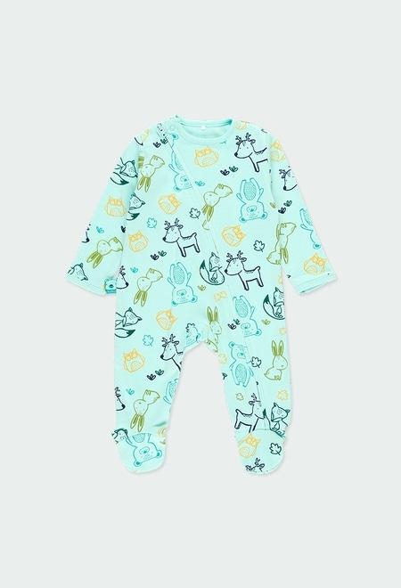 "Interlock play suit ""animals"" for baby_1"