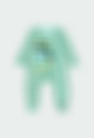 Pelele terciopelo listado de bebé