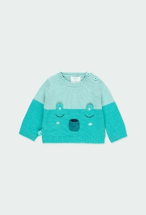 Knitwear pullover bicolour for baby boy_1