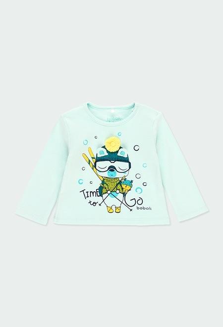 """T-Shirt interlock """"ours"""" pour bébé garçon_1"""