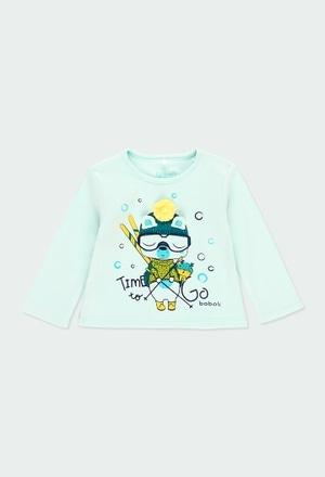 "Camiseta interlock ""urso"" para o bebé menino_1"