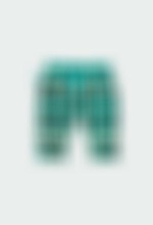 Pantalón punto cuadros de bebé niño