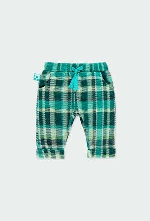 Pantalón punto cuadros de bebé niño_1