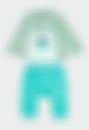 Pack en tricot à rayures pour bébé garçon